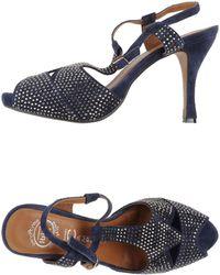 Jeffrey Campbell Blue Sandals - Lyst
