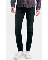 Topman Men'S Washed Stretch Skinny Fit Jeans - Lyst
