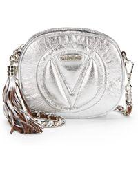 Valentino Nina Metallic Leather Crossbody Bag - Lyst