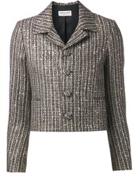 Saint Laurent Metallic Tweed Jacket - Lyst