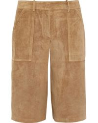 Theory Gera Suede Culottes - Brown