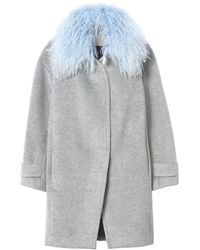 Rebecca Taylor | Wool Shearling Cocoon Winter Coat | Lyst