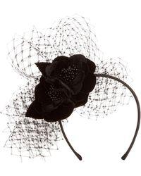 Jacques Vert - Rachel Trevor-morgan Velvet Flower Band - Lyst