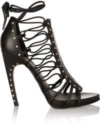 Emilio Pucci Woven Leather Sandals - Lyst