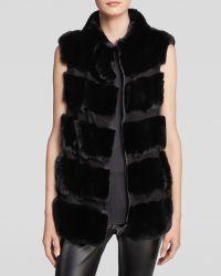 Diane Von Furstenberg Funnelia Crop Vest  Fur  - Lyst