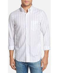Gant Rugger Hugger Fit Stripe Oxford Shirt - Lyst