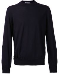 Brunello Cucinelli Blue Patched Sweater - Lyst