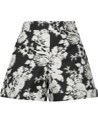 Oscar de la Renta - Cotton And Silk-Blend Jacquard Shorts - Lyst