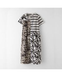 Suno Block Seamed Maxi Dress - Lyst