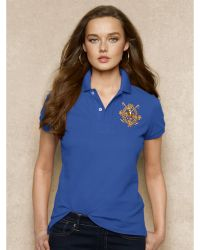 Ralph Lauren Blue Label Skinny Cotton Mesh Polo - Lyst