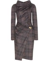 Ferragamo Wool Dress - Lyst