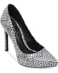 Jessica Simpson White Brynn Pumps - Lyst