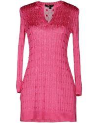 Ralph Lauren Black Label Short Sleeve Sweater - Lyst