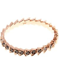 Tilda Biehn - Trace Black-Diamond & Rose-Gold Ring - Lyst