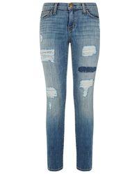 Current/Elliott Stiletto Distressed Skinny Jeans - Lyst