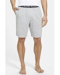 Calvin Klein Cotton Blend Lounge Shorts gray - Lyst