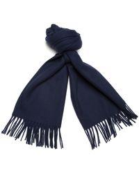 Gant Rugger | Navy Large Wool Scarf | Lyst