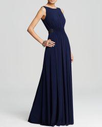 Vera Wang Gown - Tank Waist Detail - Blue