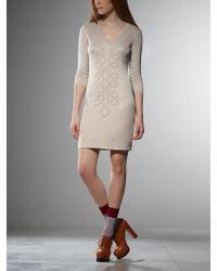 Patrizia Pepe Stretch Yarn Short Dress - Lyst