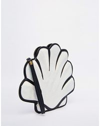 Daisy Street - Glitter Shell Clutch Bag - Lyst