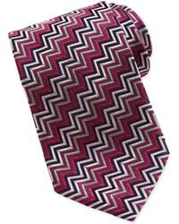 Missoni Chevron Stripe Silk Tie - Lyst