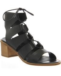 Office Wisteria Ghille Lace Up Block Heel black - Lyst