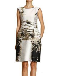 Alberta Ferretti Dress Sleeveless Jaquard Lurex - Lyst