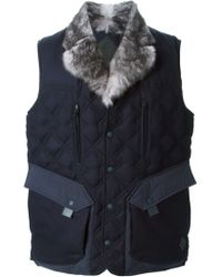 Moncler Quilted Padded Gilet - Lyst