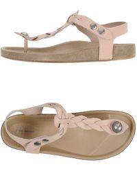 Isabel Marant Thong Sandal beige - Lyst