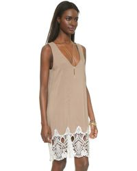 Karen Zambos - London Dress - Sand - Lyst