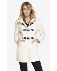 Express Wool Blend Hooded Toggle Coat - Lyst