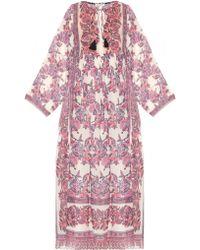 MASSCOB Floral-Print Cotton and Silk-blend Dress - Multicolor
