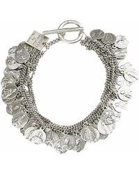 Goti Silver Bracelet With Charms - Lyst