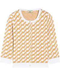 Issa Jacquard-knit Cardigan - Lyst
