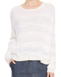 DKNY Pure Novelty Stitch Pullover - Lyst