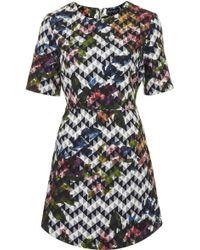 Topshop Womens Blurred Jacquard Aline Dress Multi - Lyst