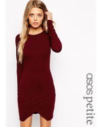 Asos Asymmetric Body-conscious Dress - Lyst