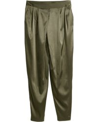 H&M Pleated Trousers - Natural
