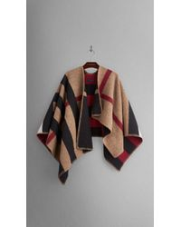 Burberry Check Wool and Cashmere Blanket Poncho - Lyst