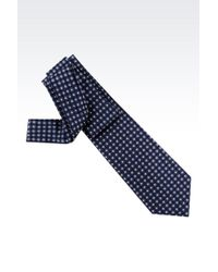 Giorgio Armani Tie In Micro Patterned Silk - Lyst