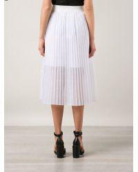 Tess Giberson - Pleated Sheer Dress - Lyst