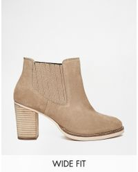 Asos Each And Every Day Wide Fit Suede Ankle Boots - Lyst