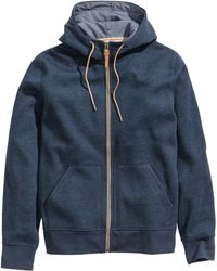 H&M Blue Hooded Jacket - Lyst