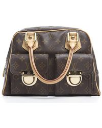 Louis Vuitton Pre-owned Monogram Canvas Manhattan Pm Bag - Lyst