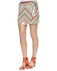 Parker Corsica Beaded Skirt - Lyst