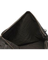 Rick Owens Hammered Leather Zipped Envelope - Black