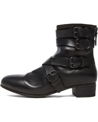 Marsell Moto Ankle Leather Boots - Lyst