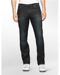 Calvin Klein | Jeans Slim Straight Leg Black Wash Jeans | Lyst