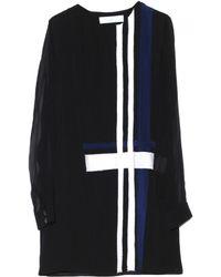 Thakoon Addition - Long Sleeve Plaid Draped Dress - Lyst