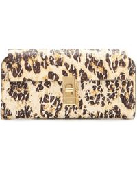 Chloé Drew Printed Leather Wallet - Lyst